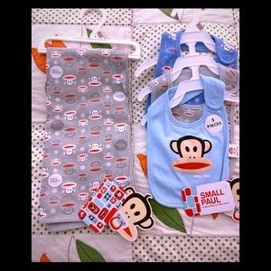Other - Brand new PAUL Frank blanket & bibs